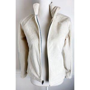 REI • Cream Ivory Fleece Zip Up Jacket